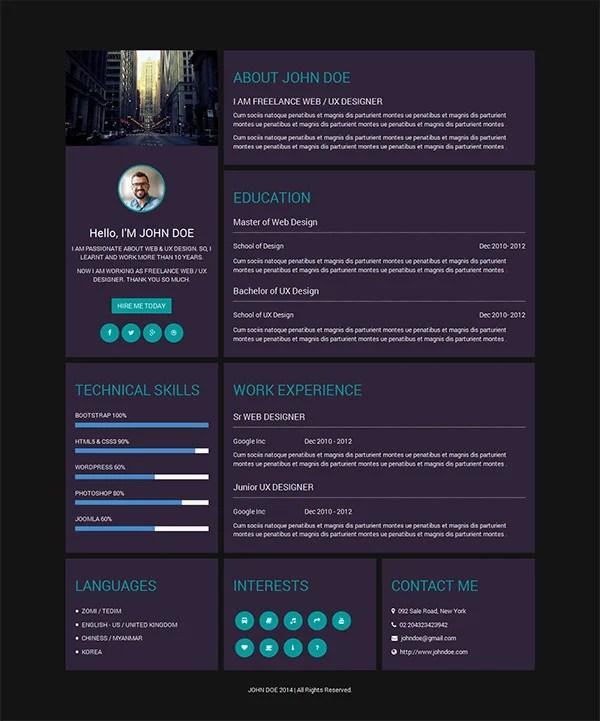 Creative Resume Template \u2013 81+ Free Samples, Examples, Format - free creative resume templates for word