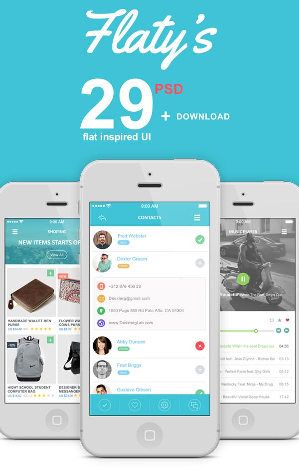 45+ Best Premium App Design UI PSD Kits for Download Free Free