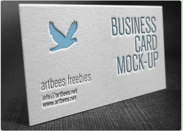 42+ Affordable Letterpress Business Card Free  Premium Templates