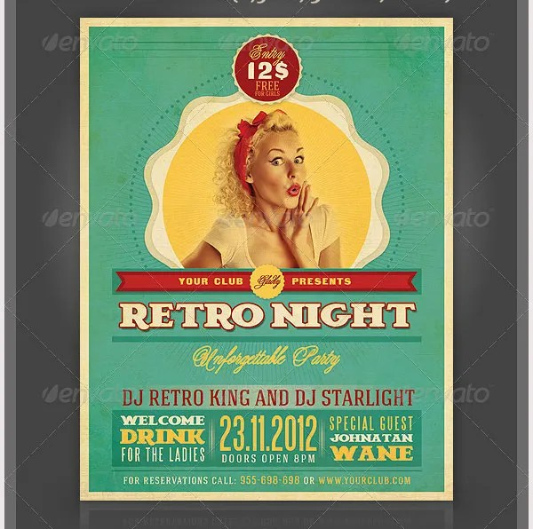 Retro Style Flyer Template - 41+ Free PSD Format Download Free