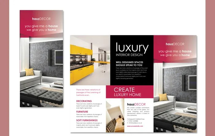 22+ Interior Decoration Brochure Templates - Word, PSD, PDF, EPS