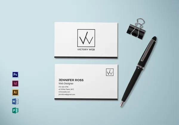 68+ Business Cards for Designers Free  Premium Templates - web designer business card