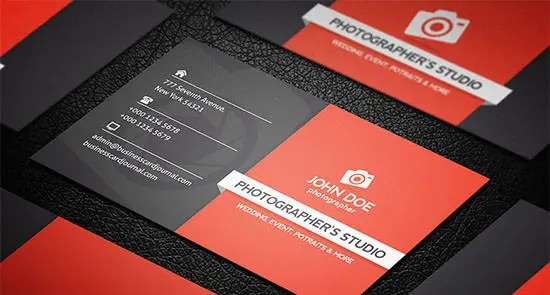 44+ Premium Business Card Templates for Professional Photographers - business card sample