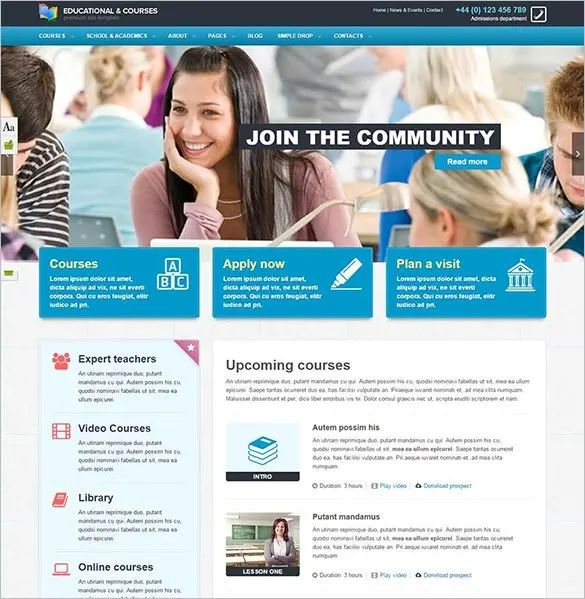 html5 education template