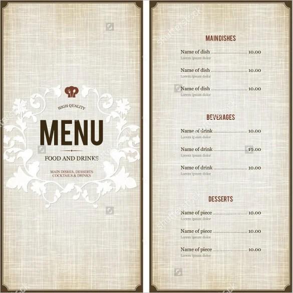 38+ Menu Design Templates - Free PSD, EPS Documents Download! Free