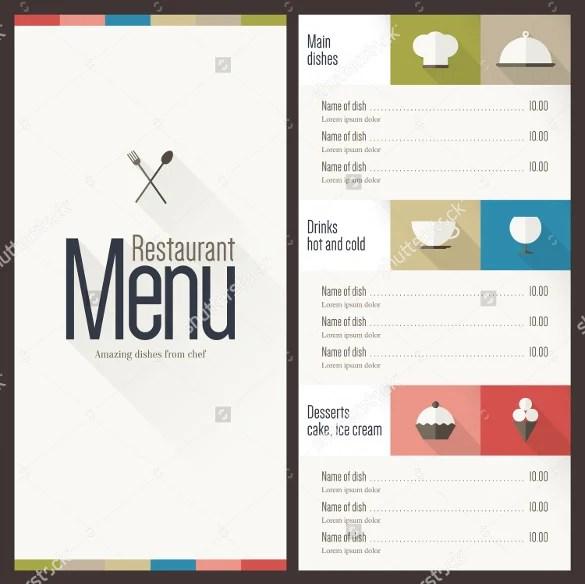 40+ Menu Design Templates \u2013 Free Sample, Example Format Download