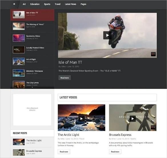 20+ Video WordPress Themes  Templates Free  Premium Templates