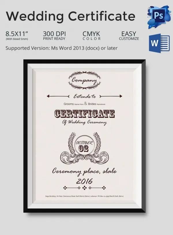 Marriage Certificate Template 1 Professional And High Islamic - wedding certificate template