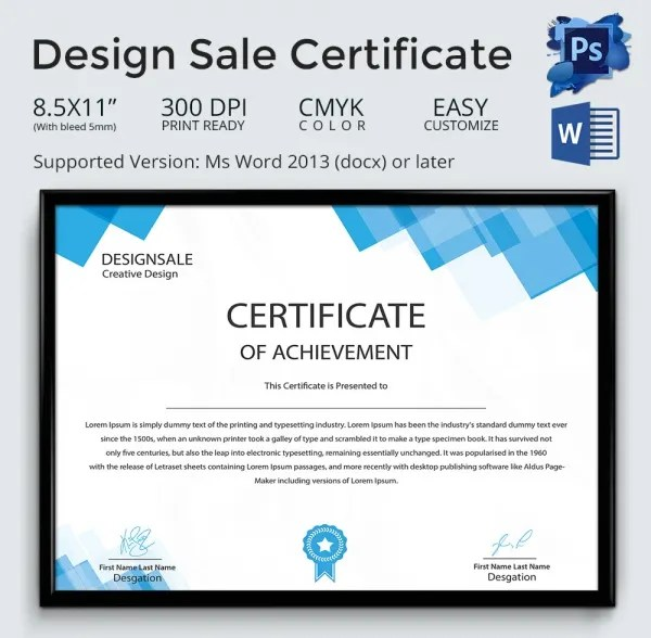 Creative Certificate Designs simpletext