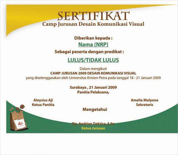 76+ Creative Custom Certificate Design Templates Free  Premium