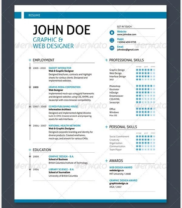 web designer resume sample free download