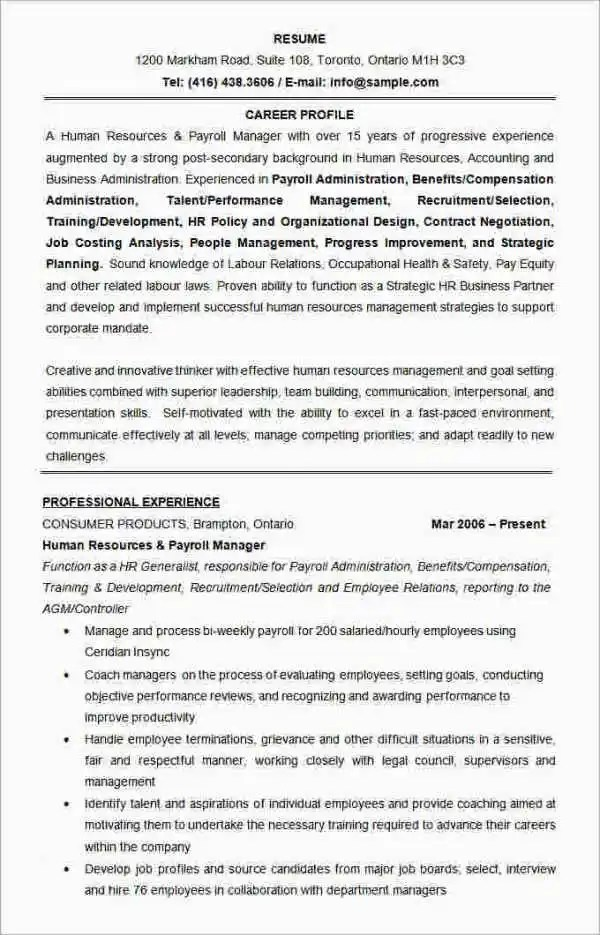 Best Resume Formats - 54+Free Samples, Examples, Format Free - sample effective resume