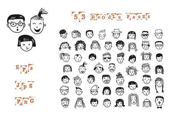 Cartoon Sketches, Cartoon Face Sketches Free  Premium Templates