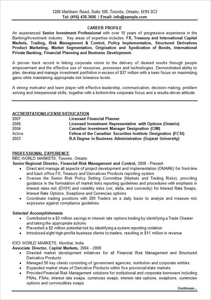 Best Resume Formats - 54+Free Samples, Examples, Format Free - sample effective resumes