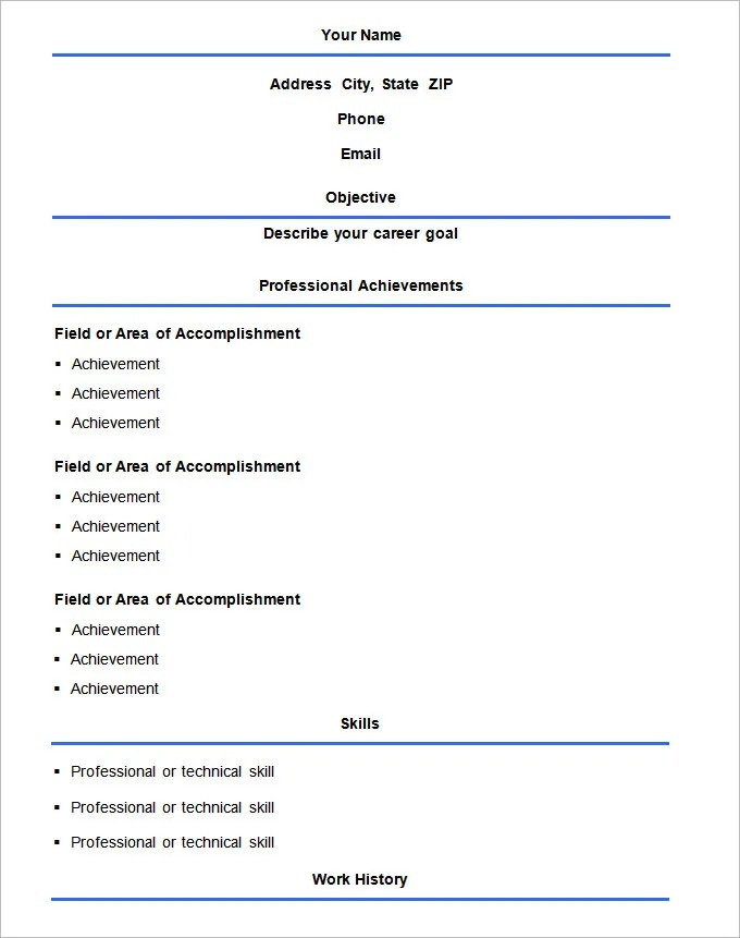 simple resume format download - Konipolycode