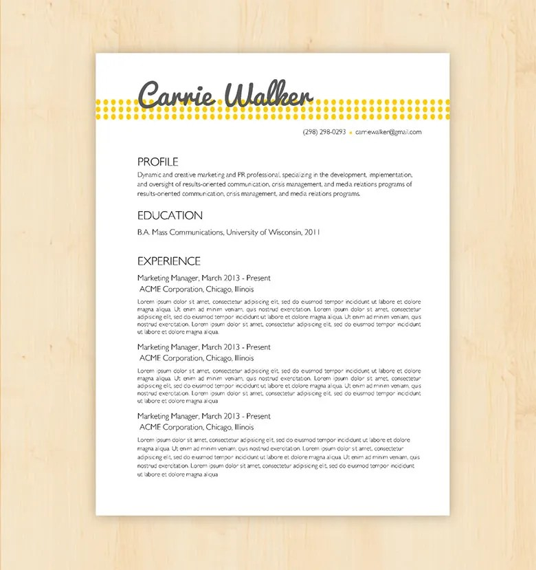 70+ Basic Resume Templates - PDF, DOC, PSD Free  Premium Templates - Simple Resume Design