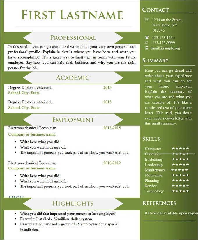 various resume formats - Ozilalmanoof - Different Formats Of Resumes