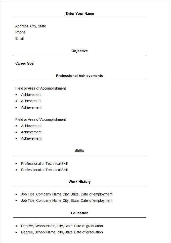 simple pdf cv