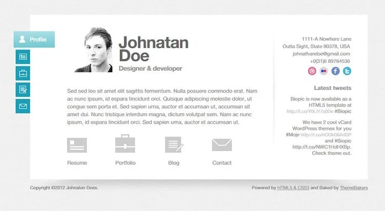 41+ HTML5 Resume Templates \u2013 Free Samples, Examples Format Download - bootstrap resume template
