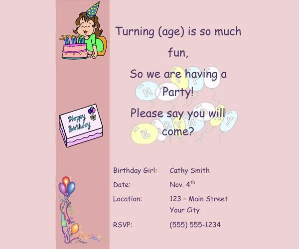23+ Birthday Invitation Email Templates - PSD, EPS, AI, Word Free