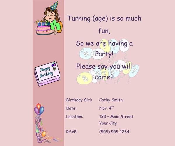 Birthday Invitation Email Template \u2013 27+ Free PSD, EPS Format