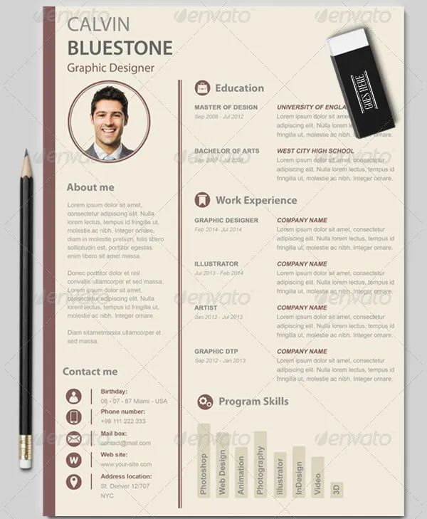 graphic designer cv design