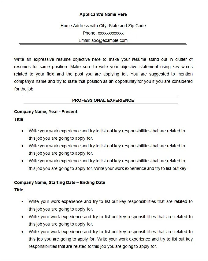 functional resume format example - Amitdhull - chronological resume templates
