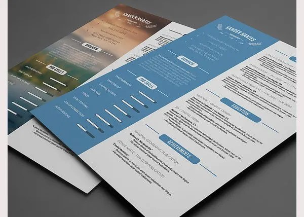 PSD Resume Template \u2013 51+ Free Samples, Examples, Format Download - resume template psd
