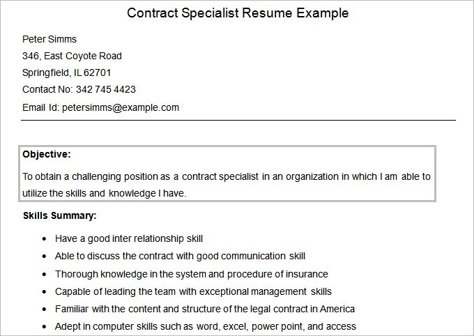 contract specialist resume exle - doc604911 general contractor - contract specialist resume