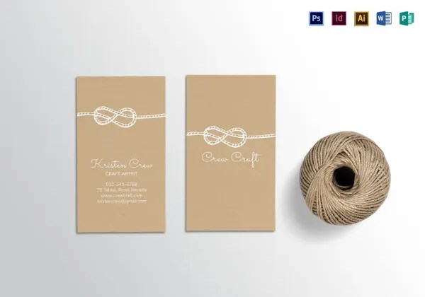 30+ Best Premium Crafter Business Cards for Download Free