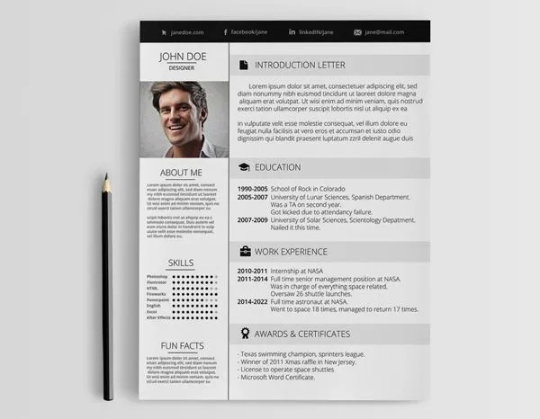 Can Beautiful Design Make Your Resume Stand Out Mashable Mac Resume Template – 44 Free Samples Examples Format