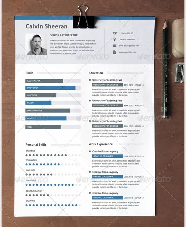unique resume templates free download