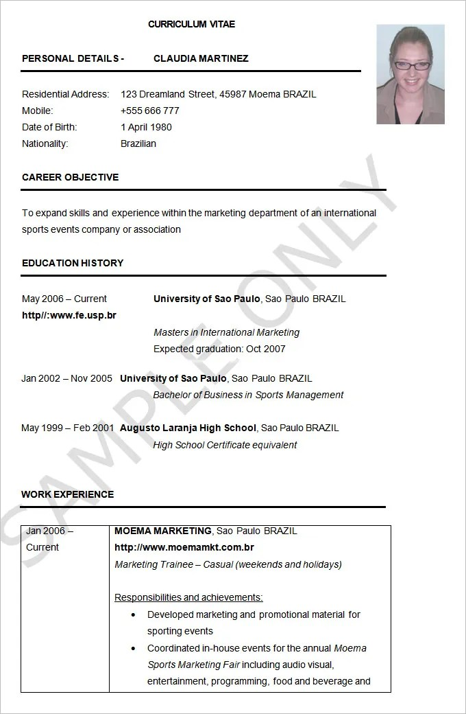 Free Downloadable Resume Templates Resume Genius Resume Example – 19 Free Samples Examples Format