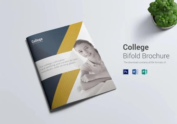 College Brochure Templates \u2013 41+ Free JPG, PSD, Indesign Format - sample bi fold brochure