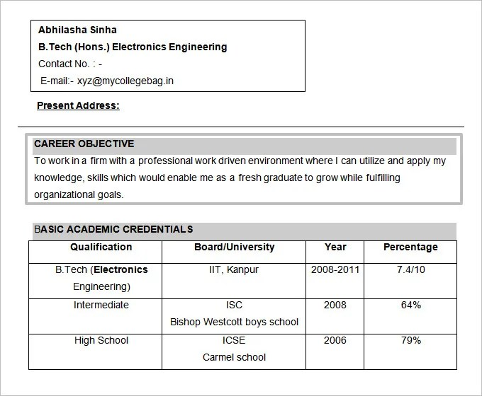 engineering resume objectives - Juvecenitdelacabrera