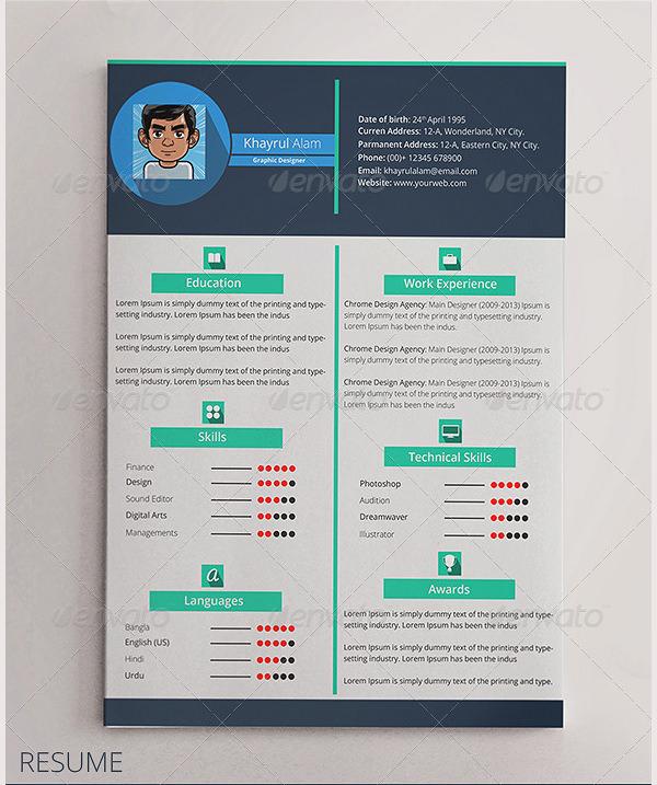 cv premium template