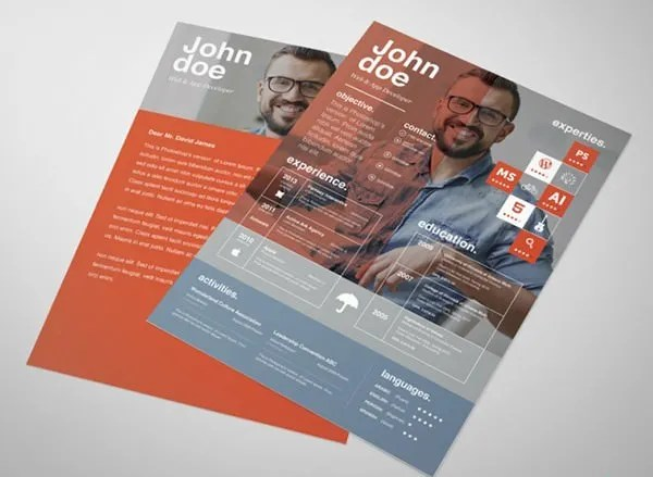 PSD Resume Template u2013 51+ Free Samples, Examples, Format Download - graphic design resume templates
