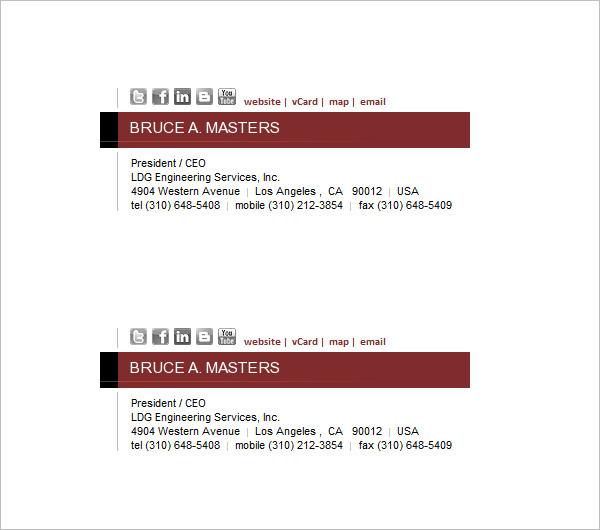 34+ Email Signature Designs  Templates - PSD, EPS Free  Premium