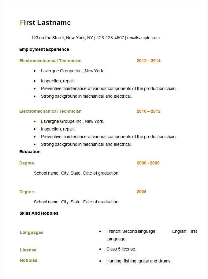 resume examples 2014 pdf