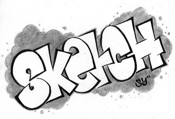 graffiti pencil sketches
