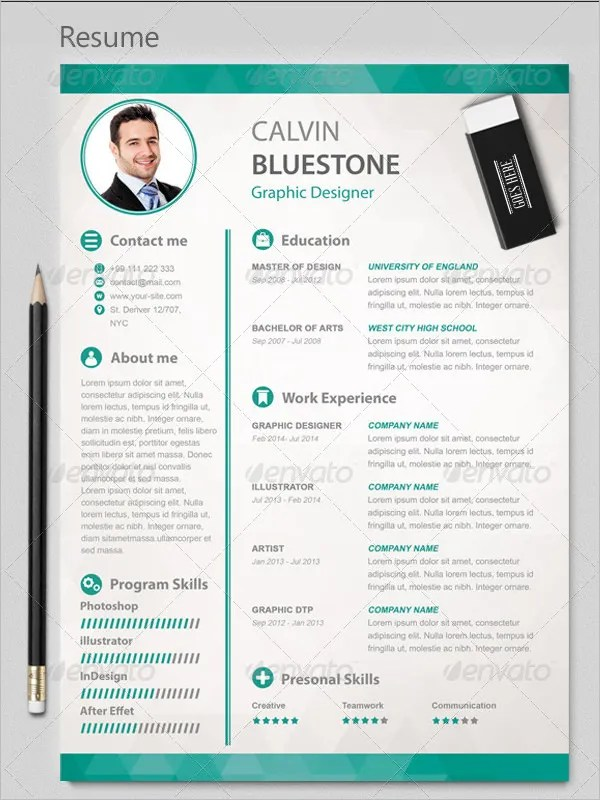 PSD Resume Template \u2013 51+ Free Samples, Examples, Format Download - Graphic Designers Resume Examples