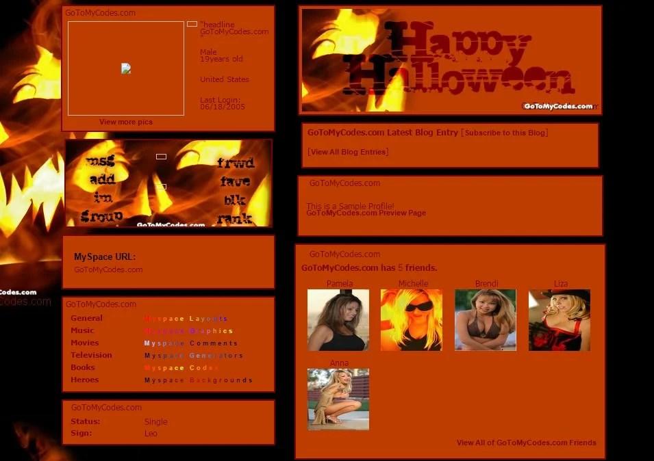 44+ MySpace Halloween Themes  Templates Free  Premium Templates