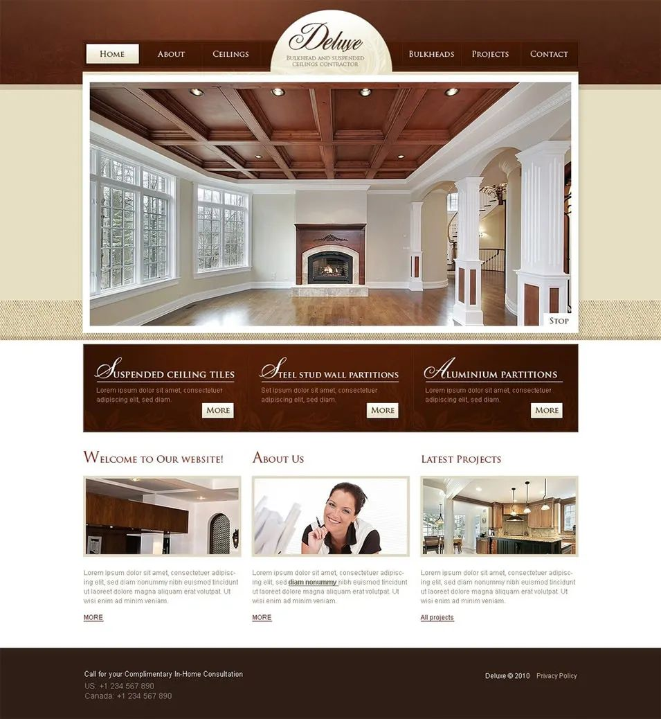 remodeling website template