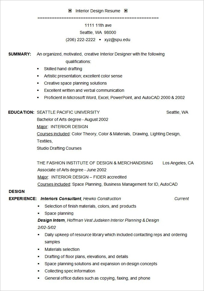 Free Professional Resume Template Download. Dayjob Cv Templates