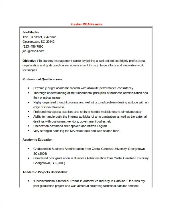 Best Resume Formats - 47+Free Samples, Examples, Format Free - download resume