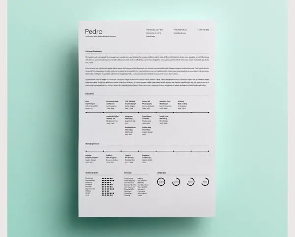Psd Resume Template – 51+ Free Samples, Examples, Format Download
