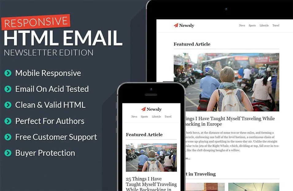 Best Responsive Email Template - 30+ Free PSD, EPS,AI Format - free responsive email template