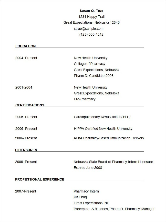 simple cv template download - Onwebioinnovate - Samples Of Cv Format