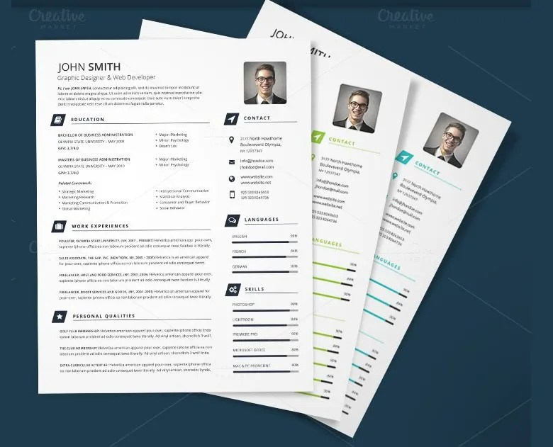 CV Templates - 70+ Free Samples, Examples, Format Download Free - free printable resume format