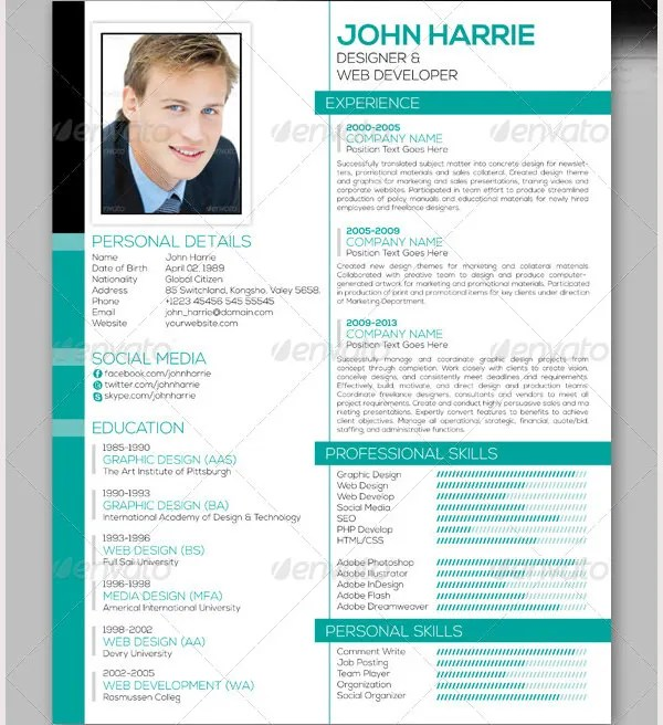 Professional Resume Template - 60+ Free Samples, Examples, Format - resume format for it professional